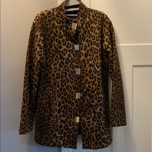 Wool leopard coat